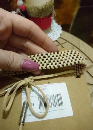 Многослойный двойной чокер замшевый чокер шнурок плетение украшение на шею  pull & bear