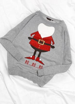 Новогодний свитер свитшот new look