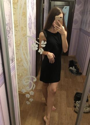 Цена шок! шикарное чёрное платье