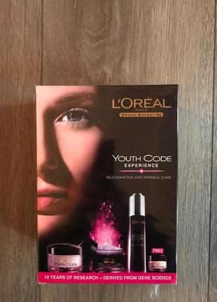 Набор loreal paris youth code experience 4в1