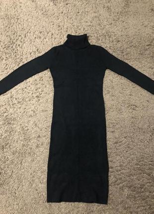 Новое платье гольф/ платье миди/ тёплое платье / базовое платье