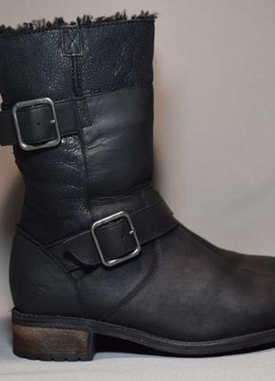 Угги ugg australia leather сапоги ботинки зимние женские овчина цигейка оригинал 37р/23см