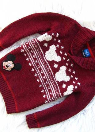 Теплая кофта свитер george mickey mouse