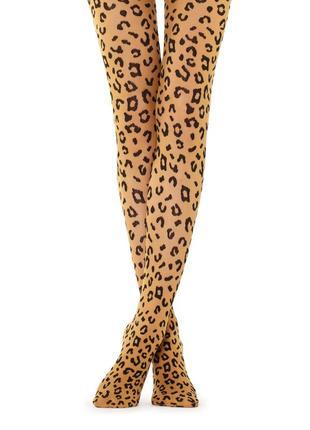 Супер-стильные леопардовые колготки calzedonia