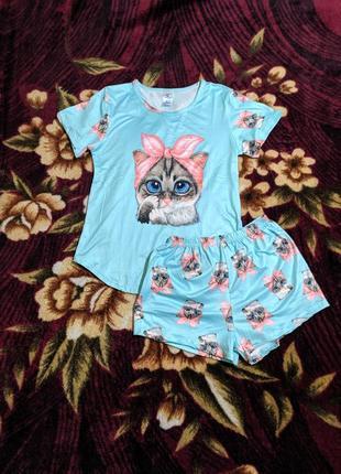 Пижама футболка + шорты