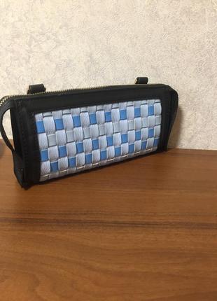 Кожаная сумка-клатч с ремешком2 фото
