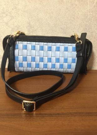 Кожаная сумка-клатч с ремешком3 фото
