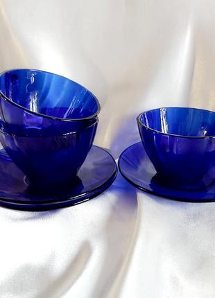 Сервиз кобальтовый чайная пара кобальт винтаж ссср