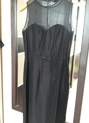 Стильное черное платье футляр ossis
