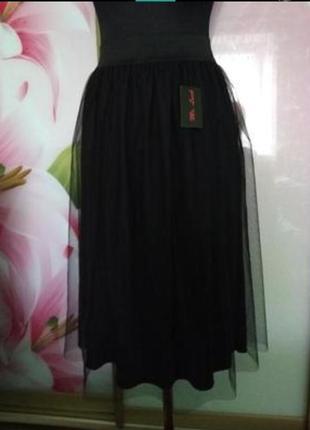 Фатиновая миди юбка!в наличии есть разные размера!.2 фото