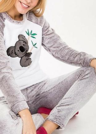 Бомбезная теплющая,мимишная пижама с коалой..