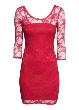 Кружевное платье h&m, м