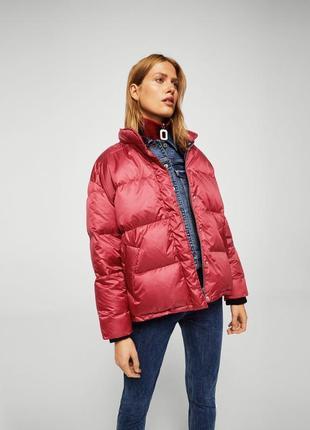 Mango куртка - пуховик оверсайз м- l размер . новая с бирками4 фото