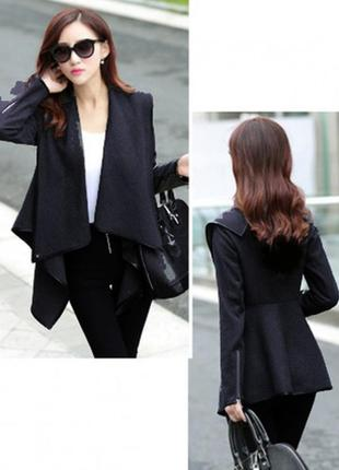 Шикарное итальянское пальто/тренч s 36-38 черного цвета от lesara