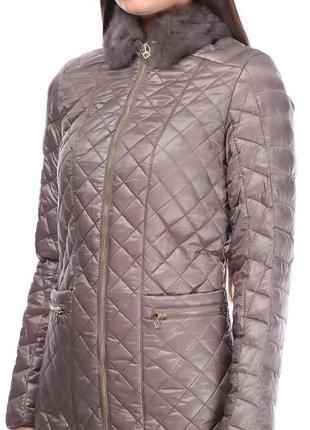 Пальто rinascimento с натуральным воротником