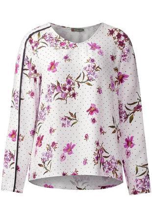 Sale вискозная блуза в цветочный принт street one, 42 евро