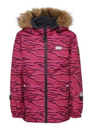 Теплая зимняя куртка lego wear дания для девочек 116, 122