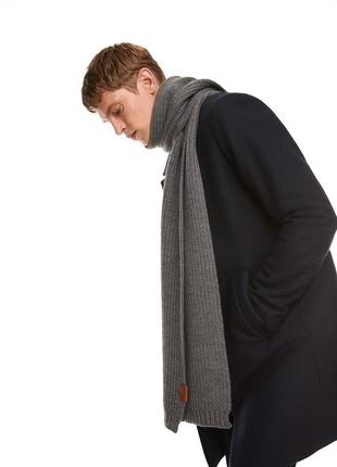 Теплый длинный шарф zara man