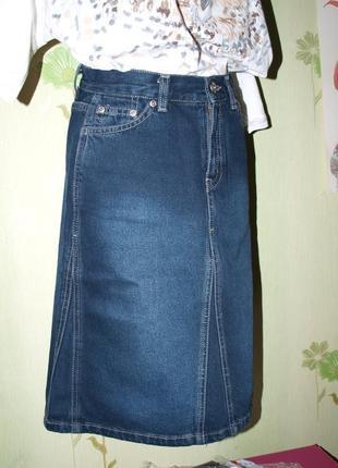 Юбка-миди xs-s-на талию- оригинал от  gloria jeans