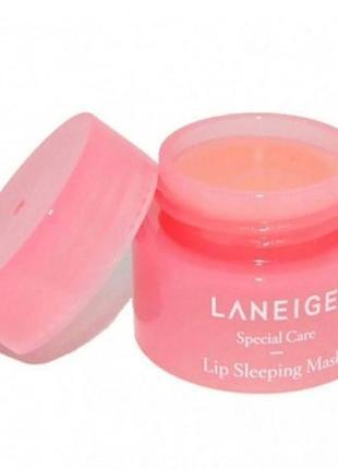 Миниатюра  laneige lip sleeping mask berry