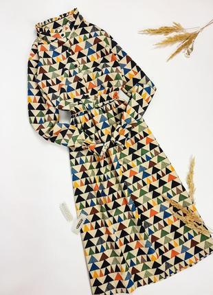 Вельветовое платье миди (есть разные принты)