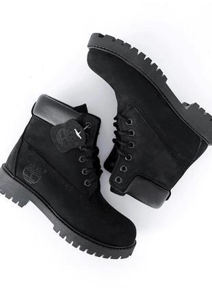 Sale! зимние ботинки timberland premium 6in черные