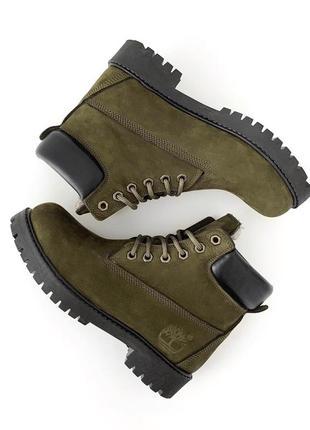 Зимние ботинки ti̇mberland premi̇um 6i̇n цвет хаки