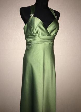Вечірня сукня платье длинное вечернее нарядное зелёного цвета платье
