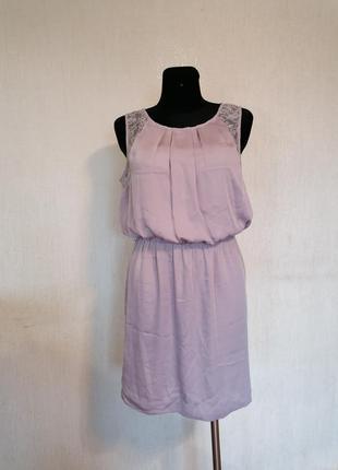 Нежное платье сарафан с кружевом