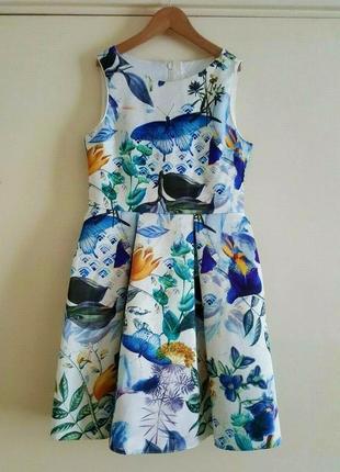 Нарядное платье next, рост 146-152 см