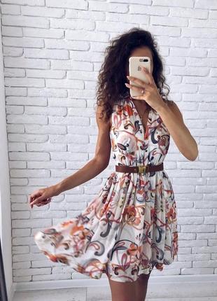 Летняя распродажа платье летнее h&m с поясом