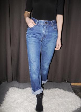 Mom jeans высокой посадки, 100% коттон от h&m