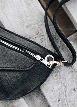 Черная поясная сумка-клатч через плечо или на пояс бананка #розвантажуюсь7 фото