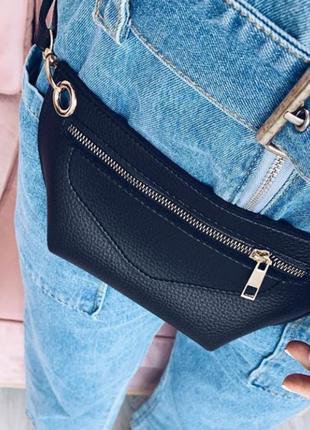 Черная поясная сумка-клатч через плечо или на пояс бананка #розвантажуюсь8 фото
