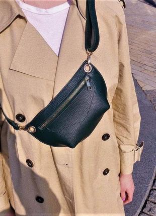 Черная поясная сумка-клатч через плечо или на пояс бананка #розвантажуюсь3 фото