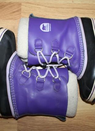 Взуття зимове тепле sorel 37р шкіра ботинки, обувь термо