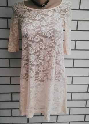 Кружевное платье,туника  h&m
