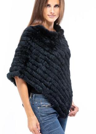 Шикарное вязаное  пончо из меха кролика wilsons leather от maxima,оригинал