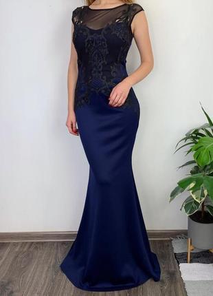 Вечернее изысканное платье с кружевом