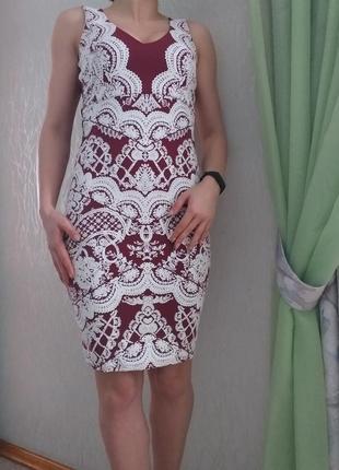 Миди платье по фигуре