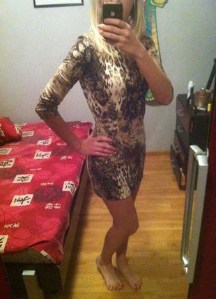 Платье леопард