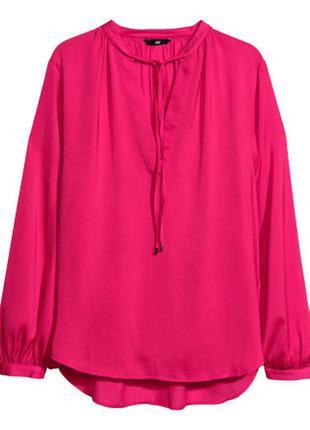 Розовая блузка h&m, 34
