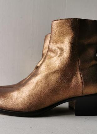 Maison martin margiela кожаные, золотые ботинки