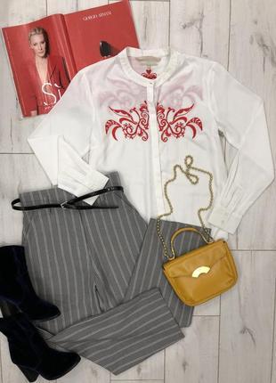 Стильный комплект брюки h&m в полоску рубашка s,m