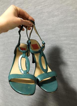 Oscar de la renta кожаные босоножки на каблуке, 100% кожа, премиум