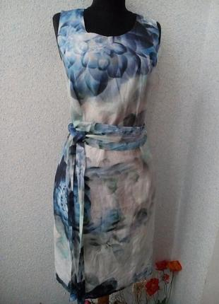 Шелковое платье с цветочным принтом bandolera