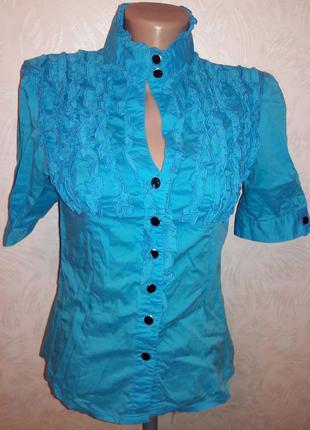 Милая блузка с воротником стойкой