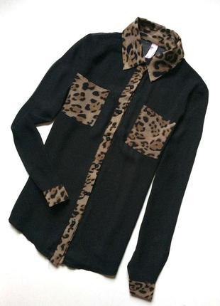 Miss moda блуза с контрастными деталями