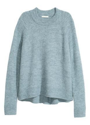 Базовый тёплый оверсайз свободный  свитер джемпер h&m р.m