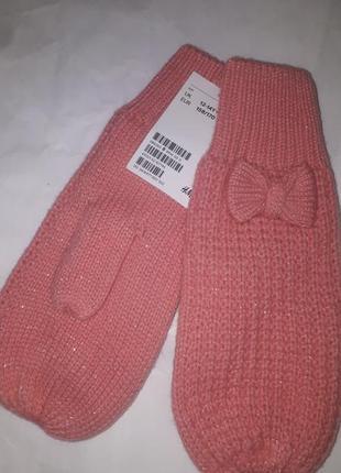 Теплі рукавички нм з глітерною ниткою та підкладкою